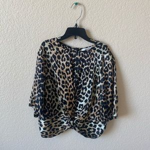 "Ganni ""Calla"" leopard blouse"